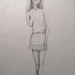 Untitled (Barbie 3), pencil on cartridge (large scale), 2011