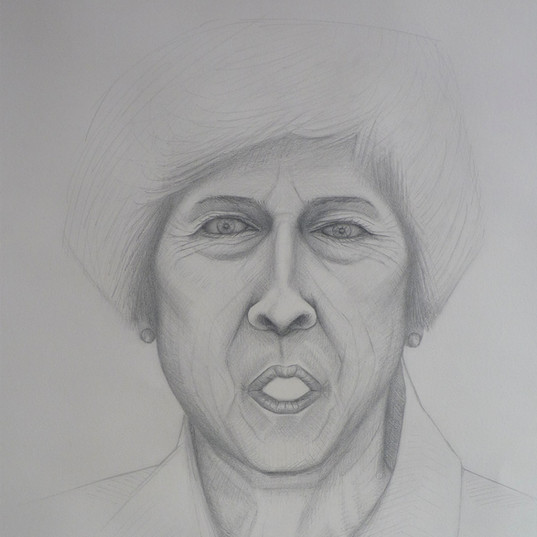 Untitled (Theresa - diptych 1 of 2), pencil on cartridge, 2019