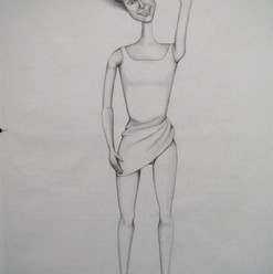 Untitled (Barbie 2), pencil on cartridge (large scale), 2011