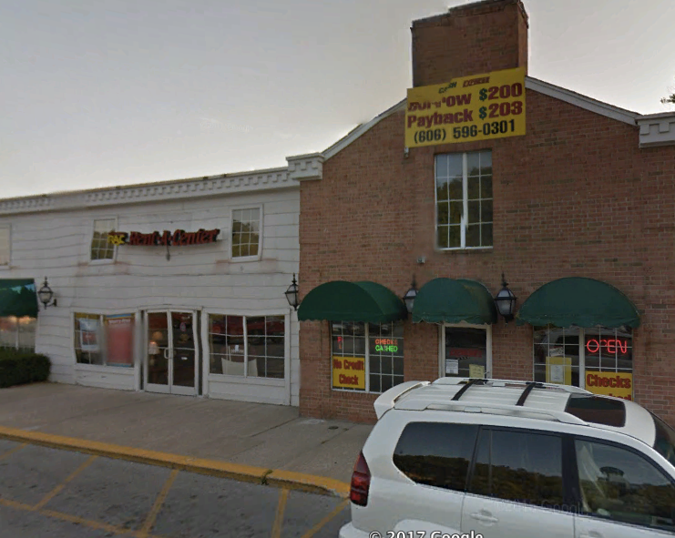 In Manchester, KY, a Rent-a-Center, two payday loan businesses, and a Dollar General are located steps away from each other.