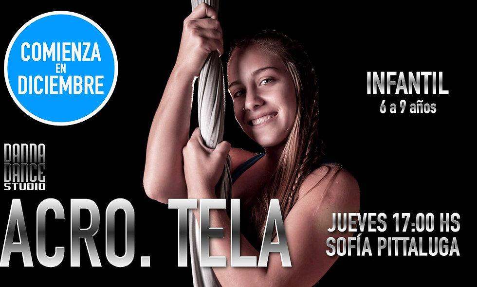ACRO. TELA infantil (6 a 9 años) / JUEVES 17:00 hs
