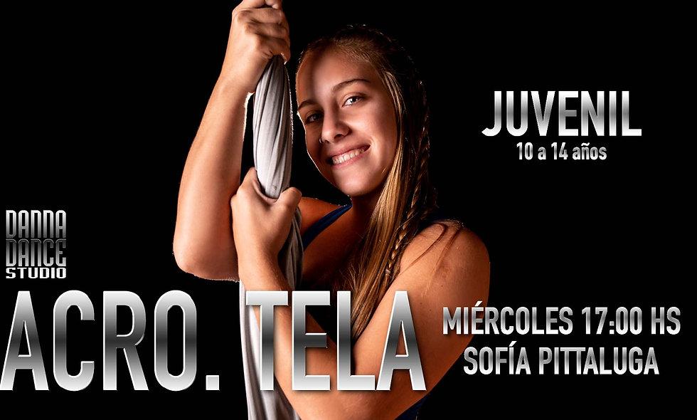 ACRO. TELA Juvenil (10 a 14 años) / MIÉRCOLES 17:00 hs