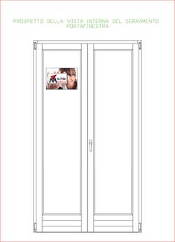 Prospetto porta finestra