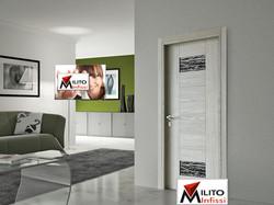 porta interna legno modello 69 con vetro tipo b