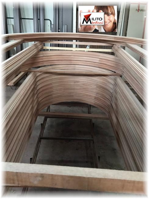 telai in legno ad arco