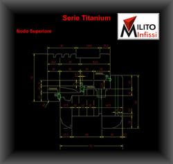 Serie Titanium finestre in legno spessore 92 nodo superiore