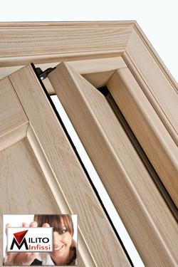 porta a libro in legno