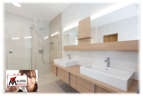 mobile lavabo in legno su misura