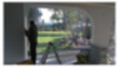infisso vetrata in legno grande