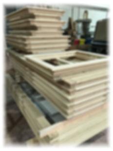 finestre legno semilavorate per falegname
