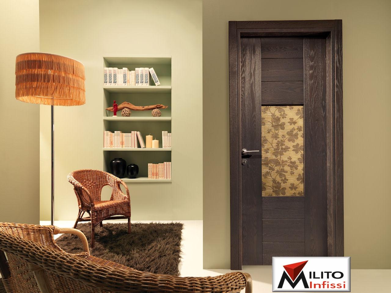 porta in legno massello modello 67