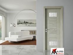 porta interna legno modello 69 con vetro tipo c