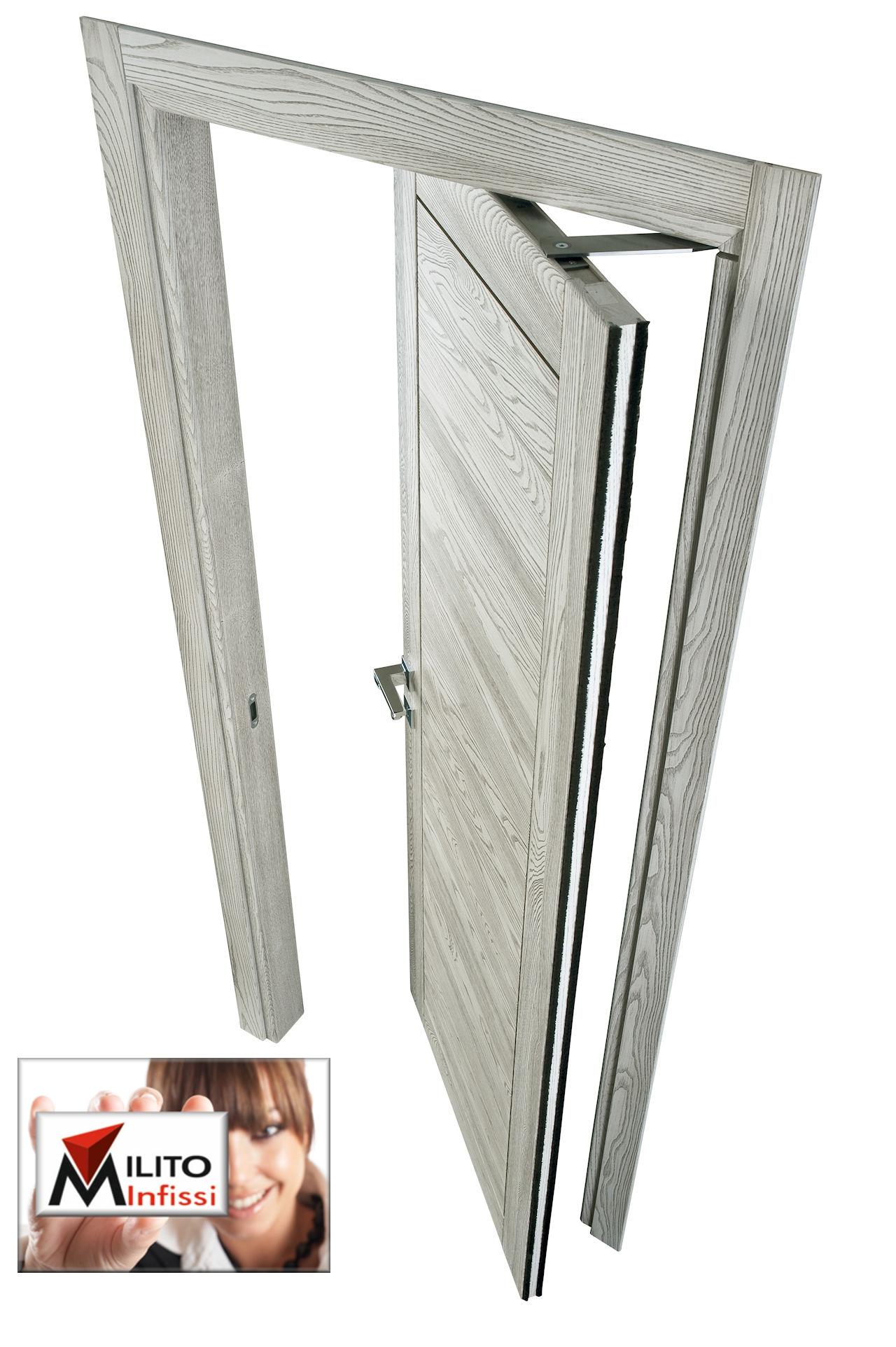 porta interna rototraslante in legno
