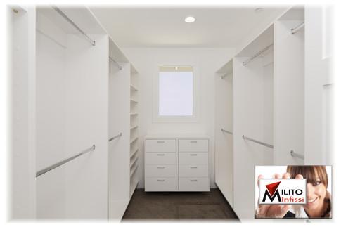 armadio a giorno su misura laccato bianco cabina armadio guardaroba