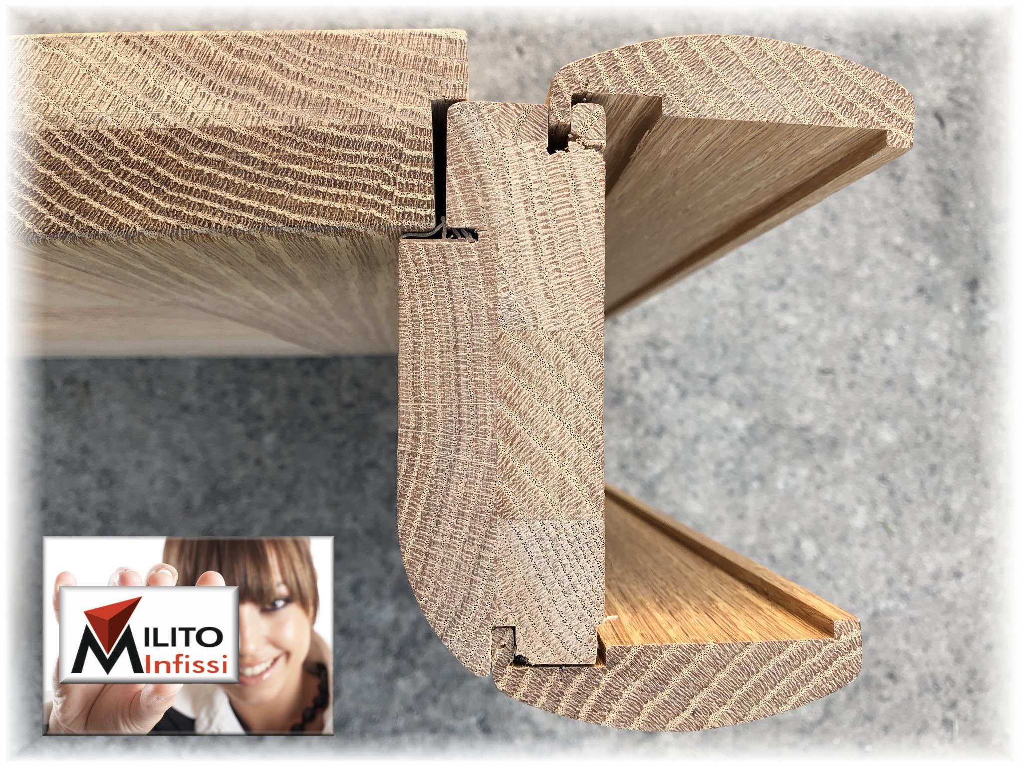 spaccato porta milito infissi legno