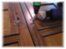 infissi in legno grezzo semilavorato