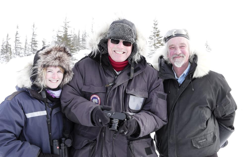 Anne mit Norbert Rosing & Brian Ladoon
