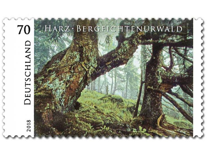 Norbert-Rosing-Briefmarke-Harz-Bergficht
