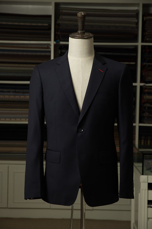 Tailored Navy-Blue Suit Jacket