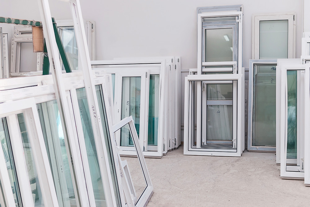 Vinyl Windows with energy efficient glass