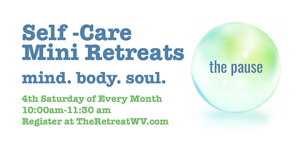 All Classes   The Pause - Self-Care Mini Retreats