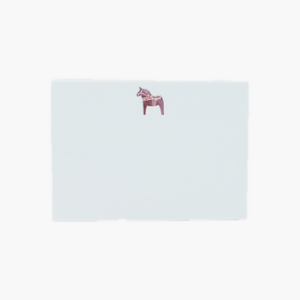 DALA HORSE NOTECARDS, IN ROSE GOLD, SET OF SIX