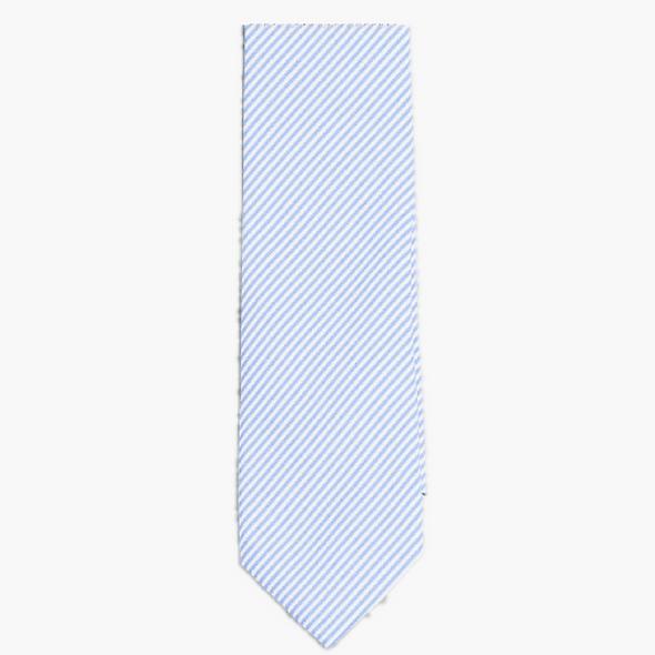BLUE AND WHITE STRIPE TIE
