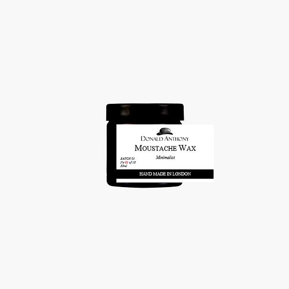 MOUSTACHE WAX, MINIMALIST
