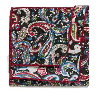 LIMITED EDITION PAISLEY POCKET SQUARE