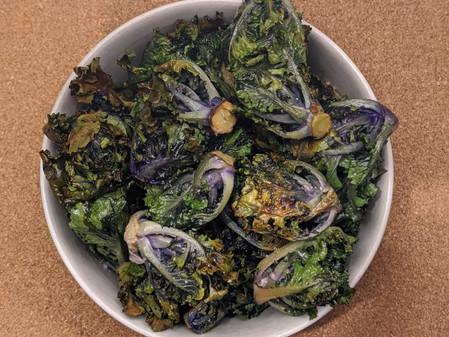 Crispy Kalettes (Gluten free/Vegan)