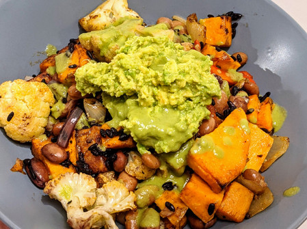 Veggie Burrito Bowl with Jalapeno and Lime Dressing (Vegan/ Gluten Free/ Dairy Free)