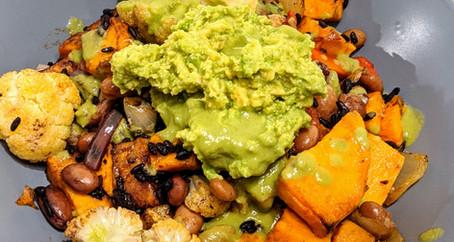 Veggie Burrito Bowl with Jalapeno and Lime Dressing (Vegan/ Gluten Free/ Dairy Free)