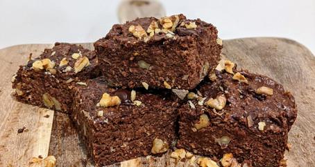 Apple Brownies (Gluten Free/ Dairy Free/ No Refined Sugar/ High Fibre)