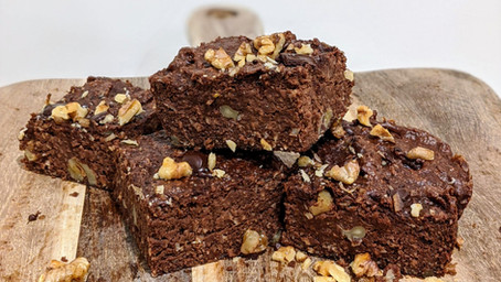 Apple Brownies (Gluten Free/ Dairy Free/ No Refined Sugar/ High Fibre)