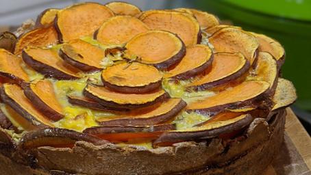 Rosemary and Sweet Potato Quiche (Gluten Free/Dairy Free)