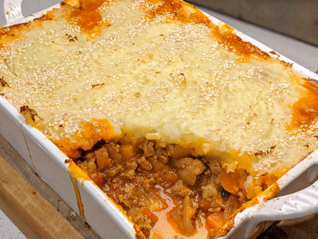 Turkey Cottage Pie (Gluten Free/Dairy Free/Low Fat)
