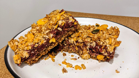 Apple and Berry Crumble Bar (Gluten Free/Vegan/No Refined Sugar)