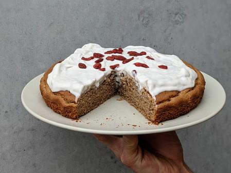 Cinnamon Cake With Coconut Cream Icing (Gluten Free/ Dairy Free/ Refined Sugar Free)