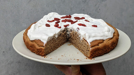 Cinnamon Cake With Coconut Cream Icing (Gluten Free/ Dairy Free/ Refined Sugar Free)