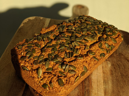 Pumpkin Bread (Gluten Free/ Vegan/ No Refined Sugar/ No Oil)
