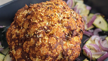 Mexican Whole Roasted Cauliflower (Gluten Free/Vegan/Dairy Free)