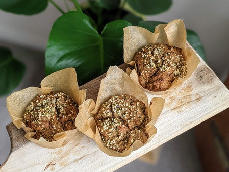 Hemp Banana Muffins (Gluten Free/Vegan/No Refined Sugar)