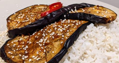 Sweet and Spicy Eggplant (Gluten Free/Vegan)