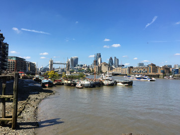 Tower Bridge and City of London on a sun