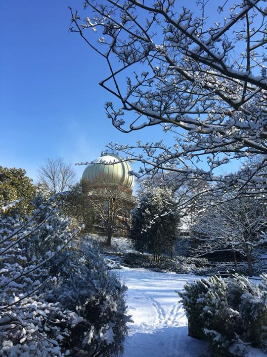 royal observatory in the snow