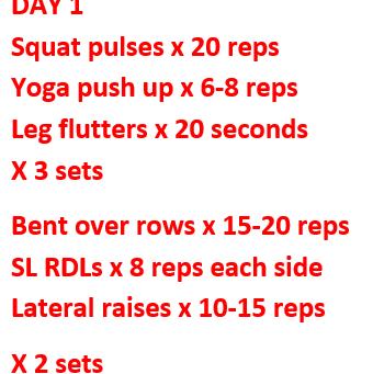 No Equipment? No problem! At home workout