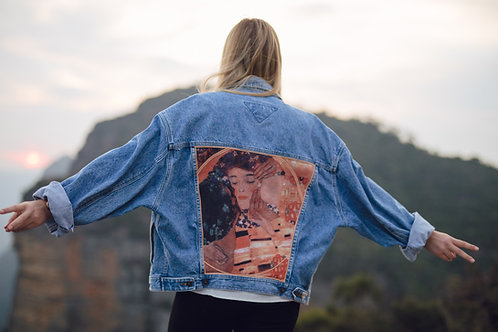 """Kiss"" Denim Jacket"