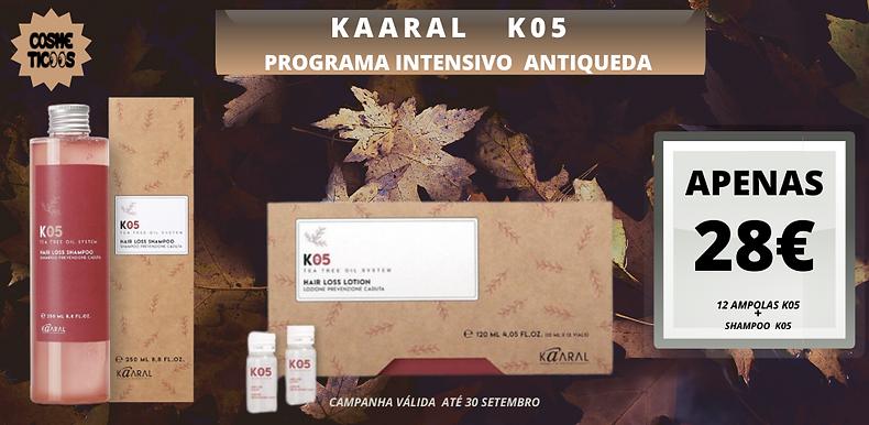 Kaaral K05  Shampoo + Ampolas Para a Queda de Cabelo