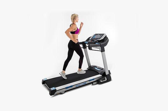 Girl running on xterra fitness treadmill