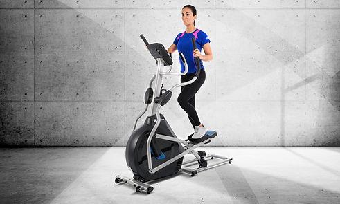 A girl training on xterra elliptical